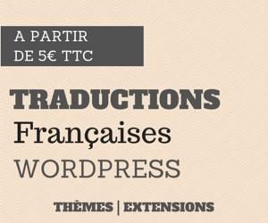 WP Traduction est un service de traduction en français de thèmes et d'extension WordPress.